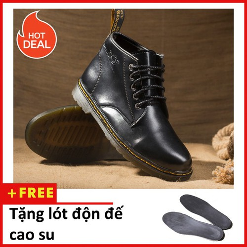 Giày boot nam - Giày boot nam cổ lửng DR  M354-DD-DEN