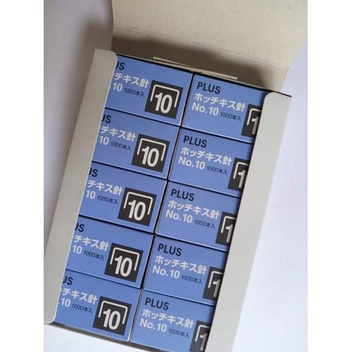 32k 10 hộp ghim bấm PLUS Nhật xịn, mỗi hộp có 1000ghim