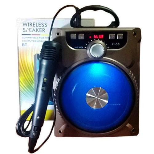 Loa Bluetooth Tặng Micro Karaoke