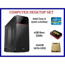 Computer Set Intel Core i3 2nd Gen + 4GB Ram + 500GB HDD + Bnew Casing
