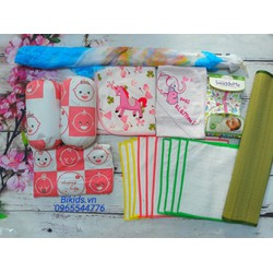 Bộ sản phẩm đồ dùng phòng ngủ cho bé gái SET02B