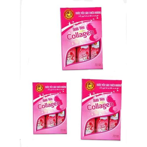 Combo 3 lốc nước yến Collagen Thiên Hoàng cao cấp x18 lon