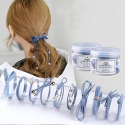 Bộ 10 chiếc chun cột tóc dễ thương phong cách hàn quốc cho bạn gái