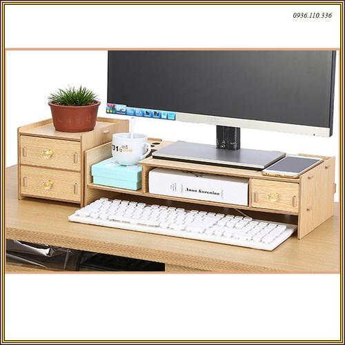 Kệ màn hình - gỗ lắp ghép 2 tầng có ngăn tủ phụ - 4300647 , 10491421 , 15_10491421 , 420000 , Ke-man-hinh-go-lap-ghep-2-tang-co-ngan-tu-phu-15_10491421 , sendo.vn , Kệ màn hình - gỗ lắp ghép 2 tầng có ngăn tủ phụ