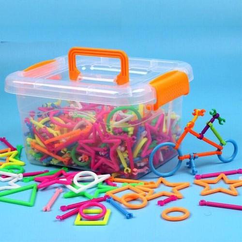 Bộ đồ chơi xếp hình que 400 chi tiết rèn tính sáng tạo cho bé
