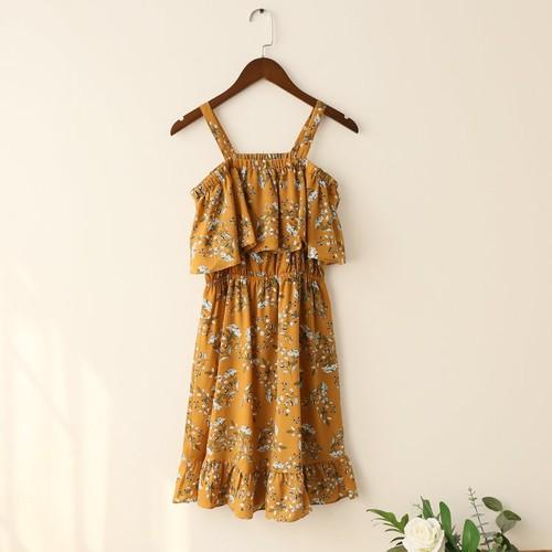 Đầm Nữ Mẫu Mới Siêu Hot Chất Đẹp Sodoha DM56298Y Màu Vàng
