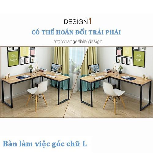 bàn làm việc - bàn chữ L A34 - bàn làm việc chữ L chân thẳng