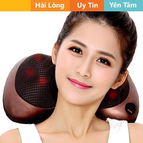 Gối massage 8 bi có đèn hồng ngoại