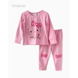 Đồ bộ bé gái in hình kitty màu hồng phấn