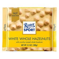 Socola Nhân Hạt Dẻ Ritter Sport White Whole Hazelnuts 100g