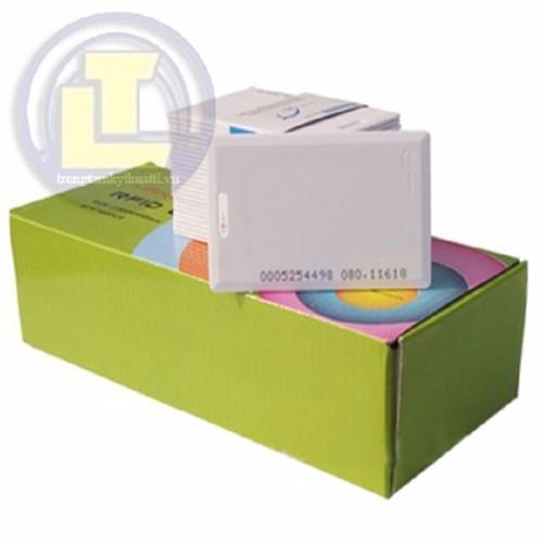 Bộ 100 thẻ cảm ứng dầy 1.8mm tần số 125 KHz màu trắng