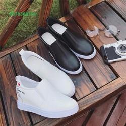 Giày slip on nữ tăng chiều cao thời trang