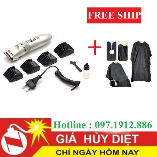 [ FREE SHIP ] tông đơ 27c tặng kèm áo choàng cắt tóc chống nước
