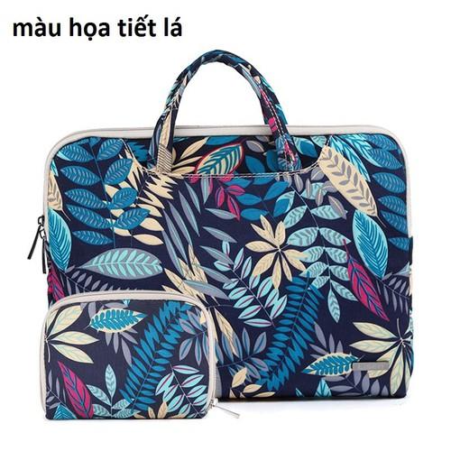 Túi chống sốc laptop có tay cầm cao cấp Lisen_tặng kèm túi ví nhỏ