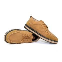 Giày Giả Da Lộn Nam Phong Cách Hàn Quốc Màu Nâu