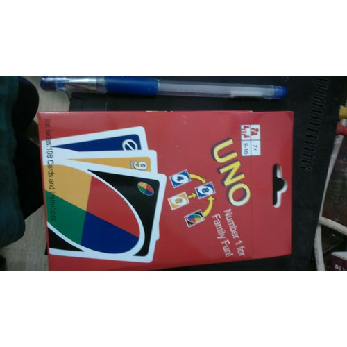 Trò chơi_một bộ bài uno_có 108 thẻ bằng giấy bóng cứng rất đẹp