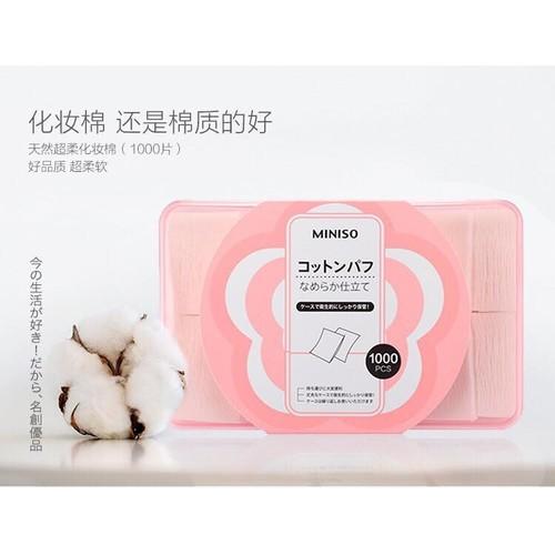 Hộp Bông Tẩy Trang Miniso 1000 Miếng – Nhật Bản