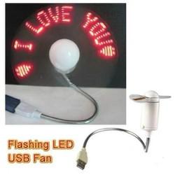 Quạt đèn LED USB tự tạo chữ thông điệp đáng yêu
