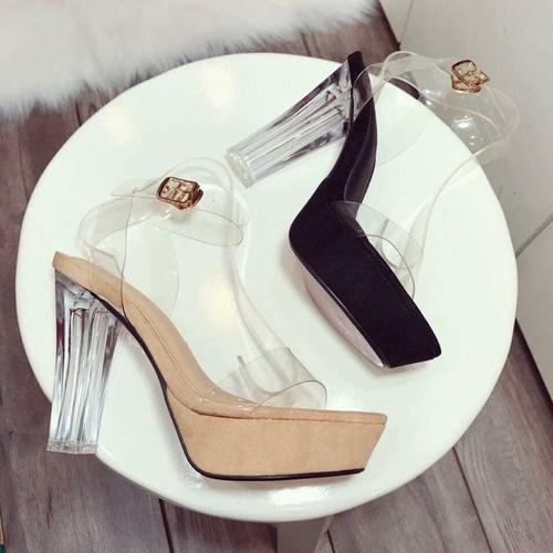 Giày guốc cao 9f
