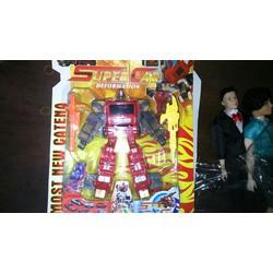 Đồ chơi lắp ráp robot biến hình xe đỏ