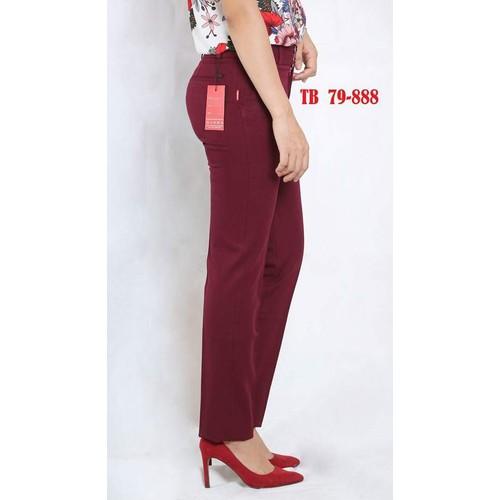 Quần tây công sở nữ Thái Hòa- màu đỏ đô -79-888