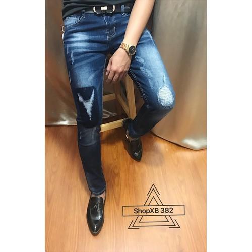 Quần jeans rách thời trang