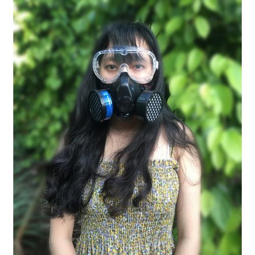 Mặt nạ phun thuốc sâu việt nam  - phun sơn - chống virus - chống cháy loại 2 lọc