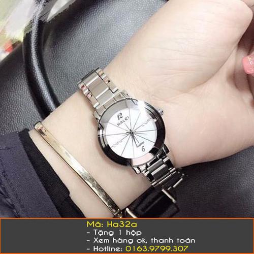 Đồng hồ Halei dây trắng 3 màu