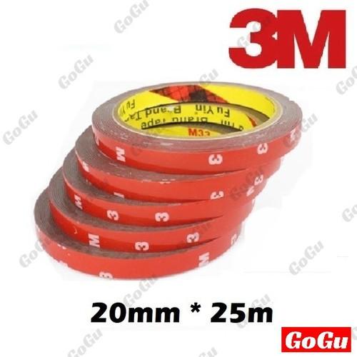 Băng dính chuyên dụng DÀI 25m*20mm dán linh kiện đồ chơi xe hơi - GOGU