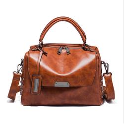 Túi xách nữ da dầu kiểu dáng hộp phong cách sang trọng