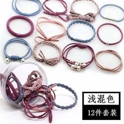 hộp 12 mẫu thun cột tóc Hàn Quốc siêu hot