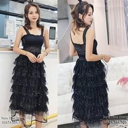 Đầm Ren Kim Sa Xếp Tầng