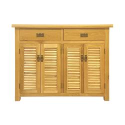 Tủ giầy 4 cánh lá sách IBH42 gỗ sồi