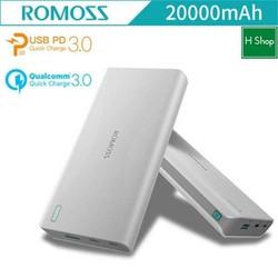 Pin sạc dự phòng 20000mAh, ROMOS Sense6 bảo hành uy tín 12 tháng