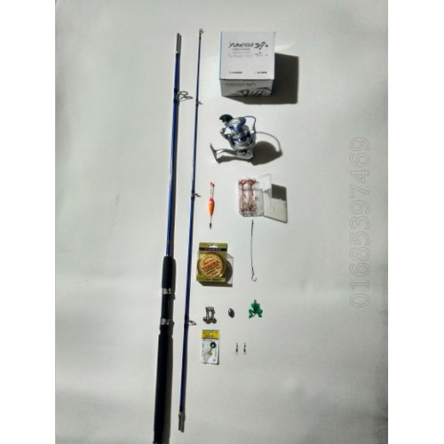 bộ cần câu 2 khúc shimano đặc 2m4, máy yumoshi AL6000 và phụ kiện - 4321455 , 10519268 , 15_10519268 , 380000 , bo-can-cau-2-khuc-shimano-dac-2m4-may-yumoshi-AL6000-va-phu-kien-15_10519268 , sendo.vn , bộ cần câu 2 khúc shimano đặc 2m4, máy yumoshi AL6000 và phụ kiện