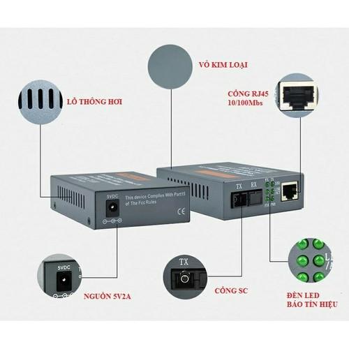 Combo 5 cặp converter quang netlink ab 10 - 100
