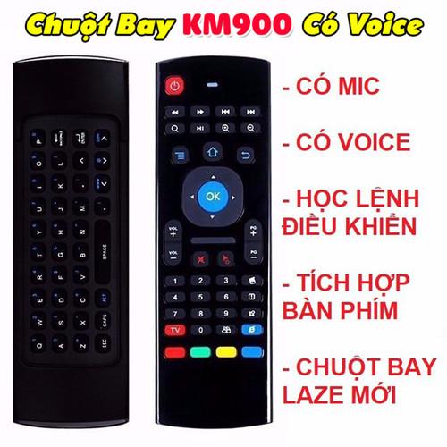 CHUỘT BAY AIR MOUSE CÓ MIC VOICE VÀ HỌC LỆNH CHO ANDROID TV BOX