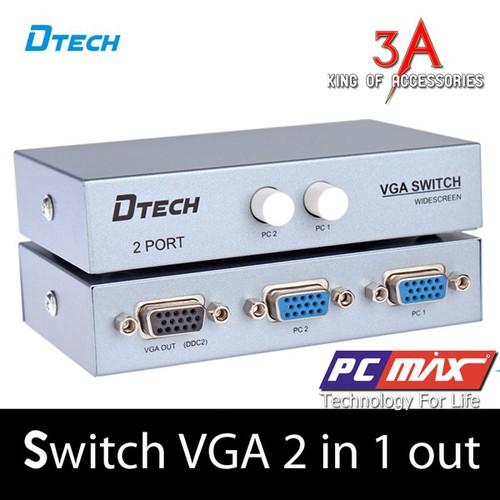 BỘ CHIA VGA 2 CPU CHIA 1 MÀN HÌNH DTECH- 7032