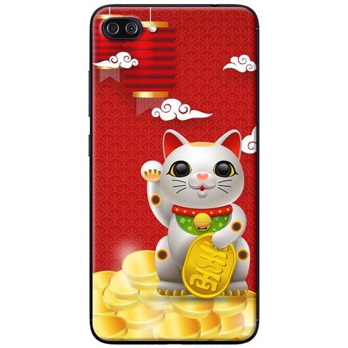 Ốp lưng nhựa dẻo Asus Zenfone 4 Max Pro ZC554KL Mèo thần tài đèn đỏ