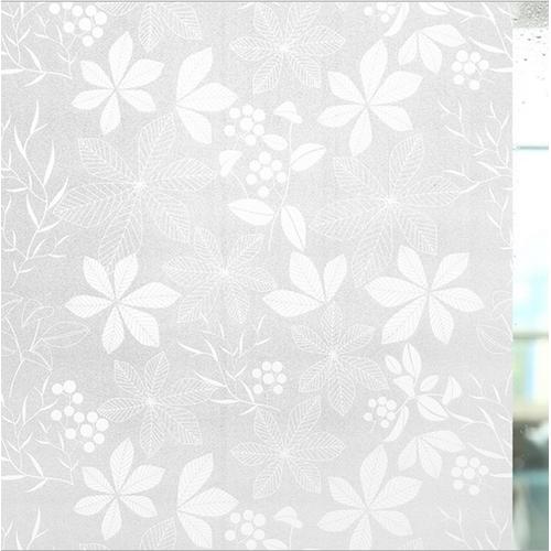 Giấy dán kíếng không cần keo  hoa trắng trang nhã khổ 90cm