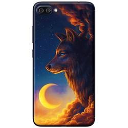 Ốp lưng nhựa dẻo Asus Zenfone 4 Max Pro ZC554KL Sói và trăng
