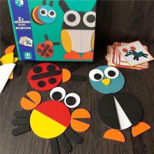 Bộ ghép hình Montessori Fun Board