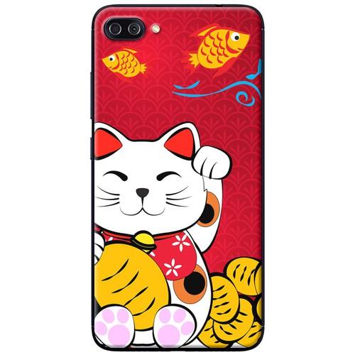 Ốp lưng nhựa dẻo Asus Zenfone 4 Max Pro ZC554KL Mèo thần tài cá chép