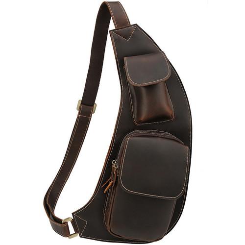 Túi đeo ngực da bò nam CowBoy 799