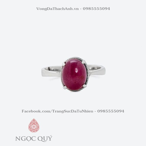 Nhẫn Ruby Oval