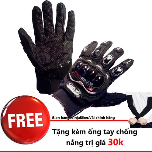 Găng tay Probiker dài ngón TẶNG ống tay aquax