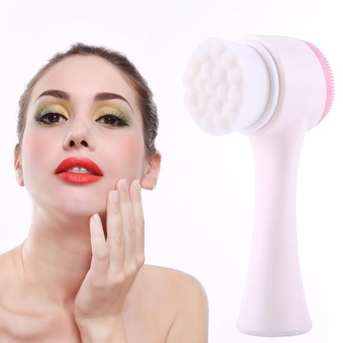 Dụng cụ rửa mặt massage 2 đầu Tiện Lợi