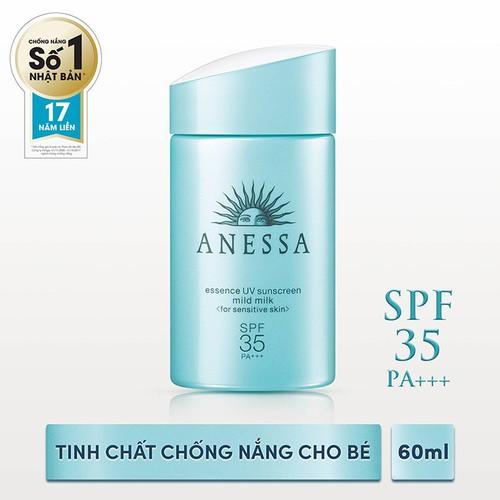 Tinh chất chống nắng dịu nhẹ cho da nhạy cảm và trẻ em Anessa 60ml