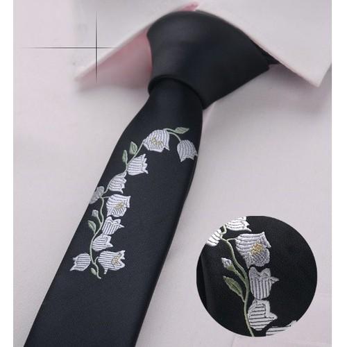 Cà vạt nam thêu bản nhỏ - 4337783 , 10541734 , 15_10541734 , 120000 , Ca-vat-nam-theu-ban-nho-15_10541734 , sendo.vn , Cà vạt nam thêu bản nhỏ