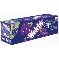 Thùng 12 Nước Ngọt Nho Welch's Sparkling Grape Soda 12x355ml Product From USA